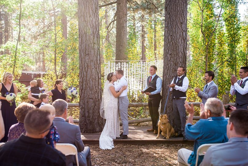 A forrest ceremony