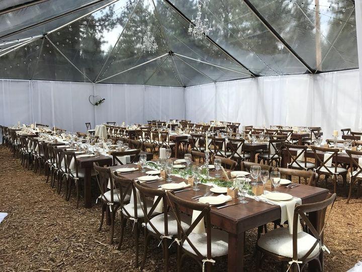 Tented sideyard