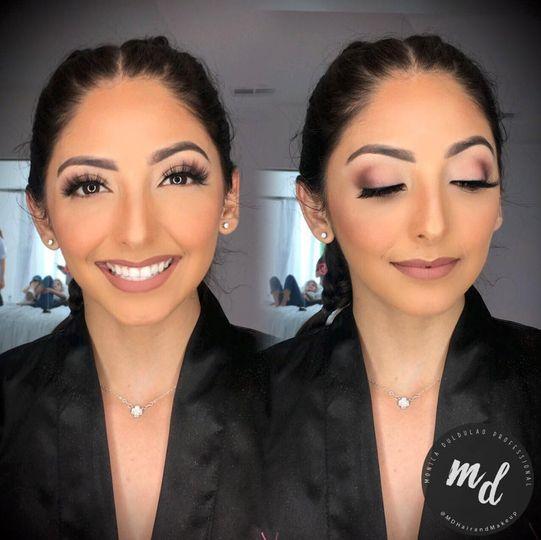 Soft glowy makeup