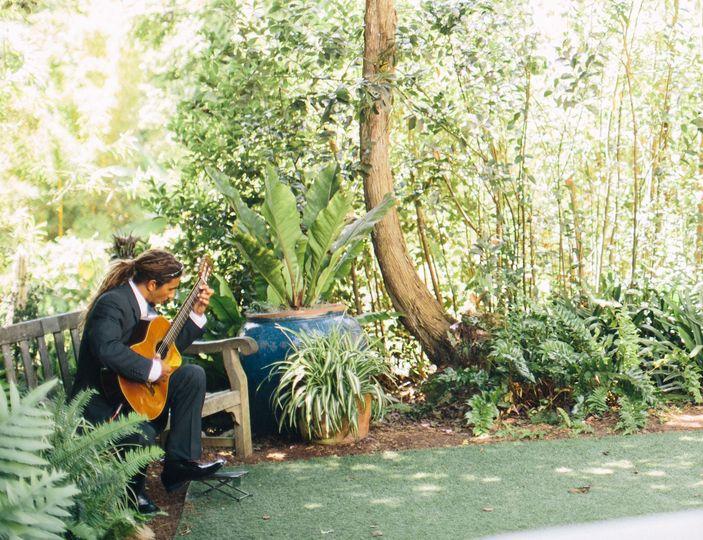 John in the gardens