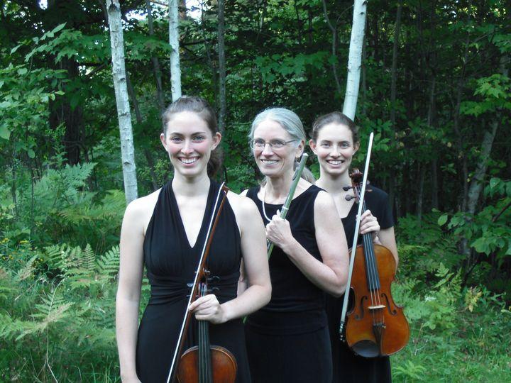 """""""Turidae"""" - our family trio! Lisa Carlson, flute, Clara Carlson-Kirigin, viola, and Mariah..."""