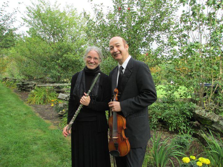 Lisa Carlson with extraordinary violinist and violist Raymond Karl Malone.