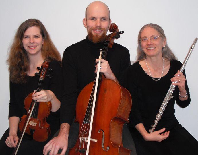 Passeri Trio, flute with violin or viola, and cello.
