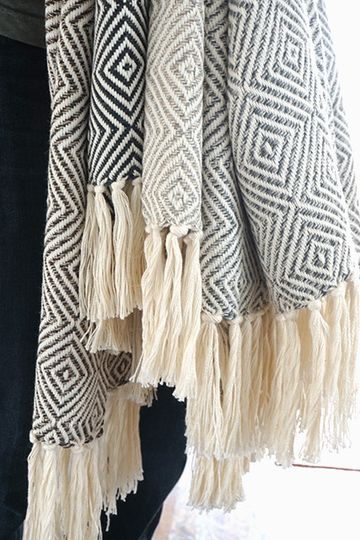 Towels with tassels