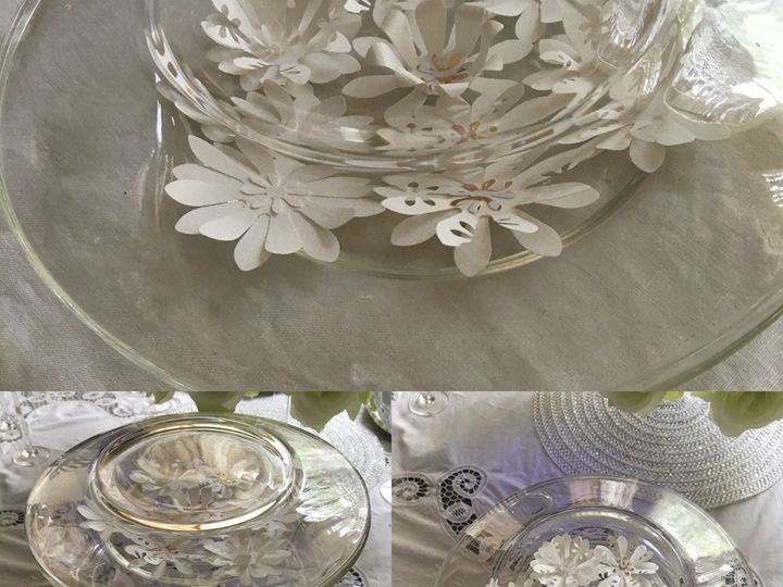 Tmx 1527631163010 Glass Plate With White Flowers Collage Clayton, North Carolina wedding eventproduction