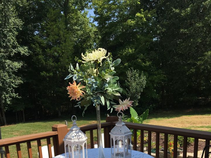Tmx Tablesetting Outside Tall Flower With 2lanterns 51 1006722 Clayton, North Carolina wedding eventproduction