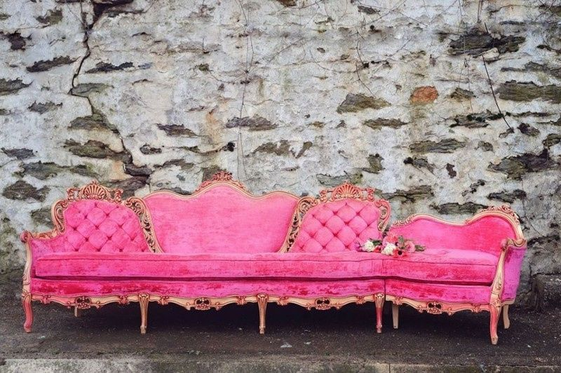 Pink luxury chair