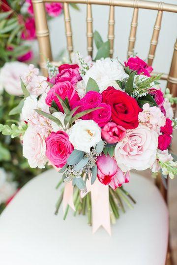 Perfect Pink Spiral bouquet