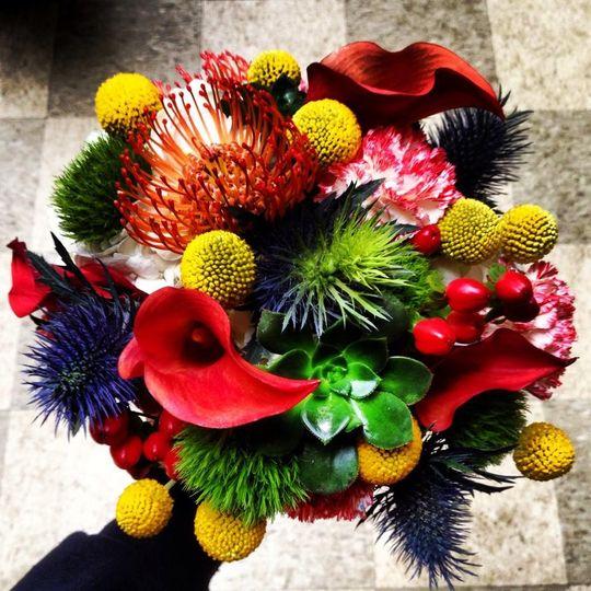 bizarre bridal bouquet