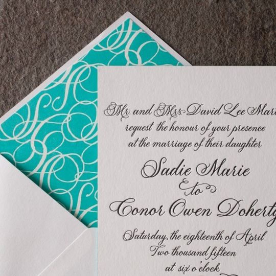 Sea blue and fancy lettering