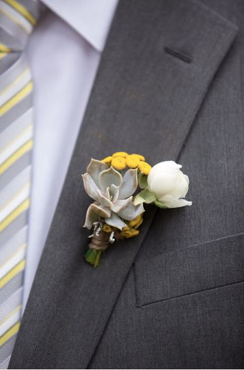 White and yellow corsage