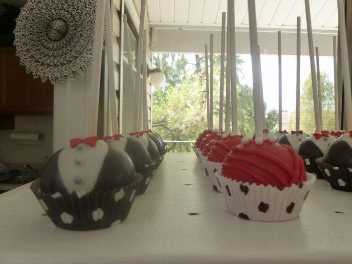 Bride and Groom Cake Pops customized for your flavors and colors.