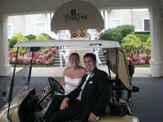 Bridal golf cart