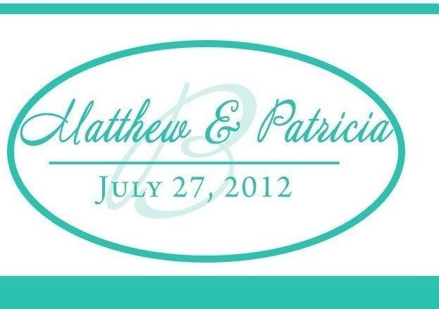 Monogram print for the wedding