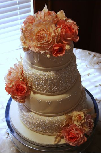 Floral cake toppers