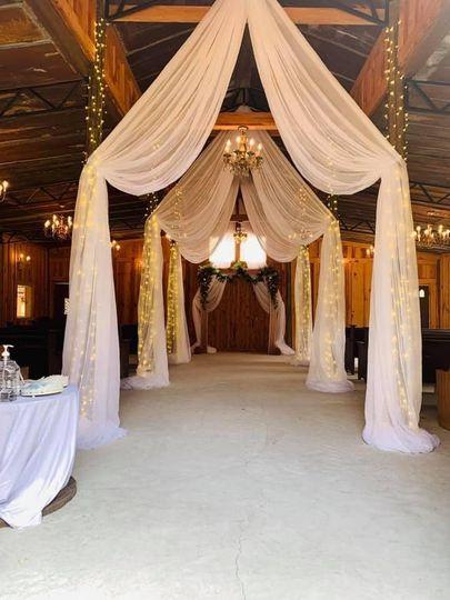 Inside draped Chapel