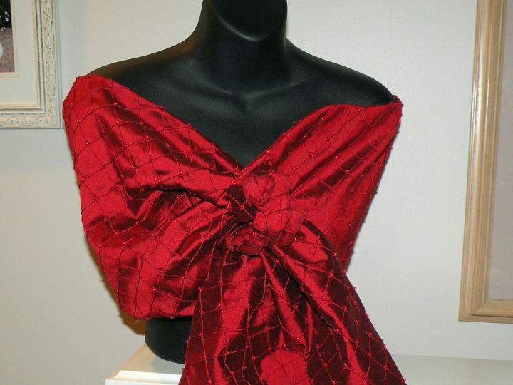 Tmx 1413939866167 Pintuck Dupioni Red Wrap 008 Copy Miller Place wedding dress