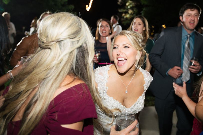 Bride enjoying the party