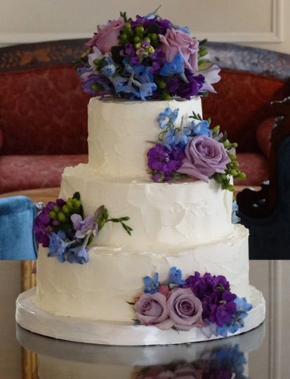 rustic icing purple flower