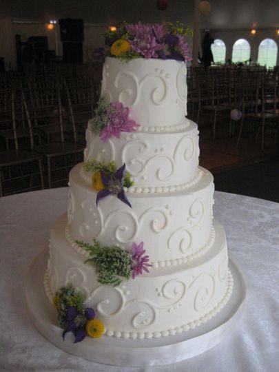 swirls 4 tiered cak