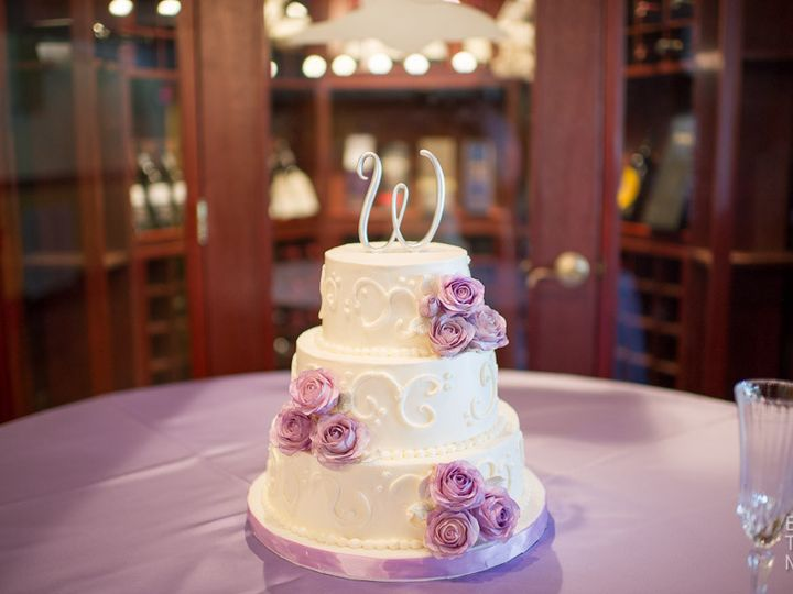 Tmx 1399938767633 28 Purple Roses Cak Frederick, MD wedding cake