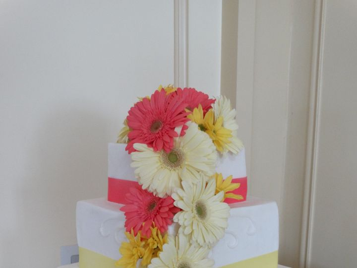 Tmx 1399939158827 Pink Yellow Daisie Frederick, MD wedding cake