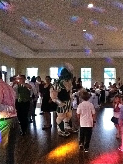Sparty stopped by the reception to Dance!