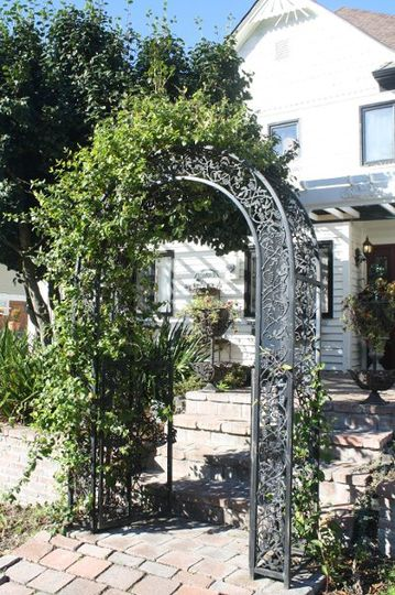 Front Archway with Honeysuckle