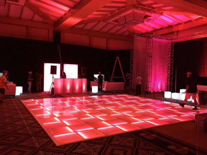 T-Mobile Corporate Party - LED Dance Floor, Uplighting & PA Sound Rental