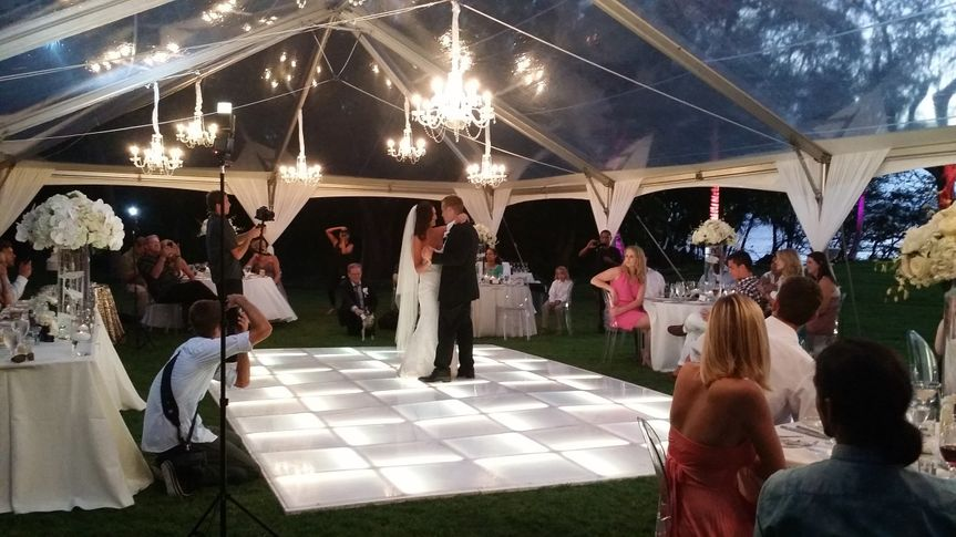 First Dance at Sugarman's Estate in Makena.  DJ/Emcee Services along with Uplighting & LED Dance...