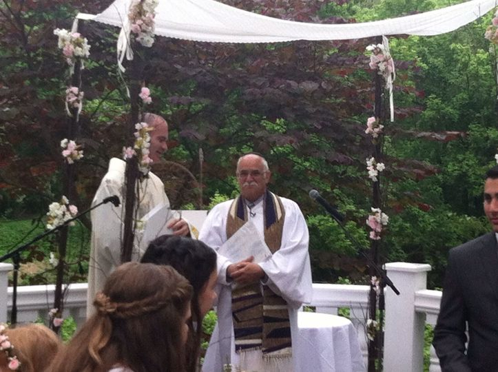 Priest and officiant