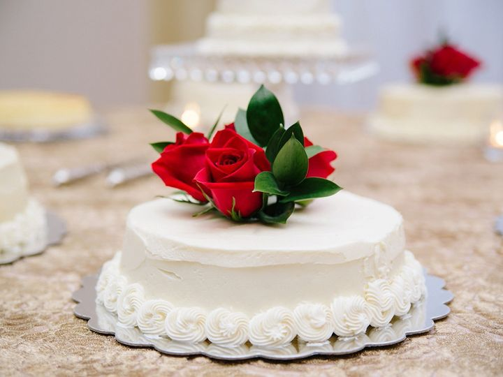 Tmx 1422647623293 White Cake With Roses Raleigh, NC wedding venue