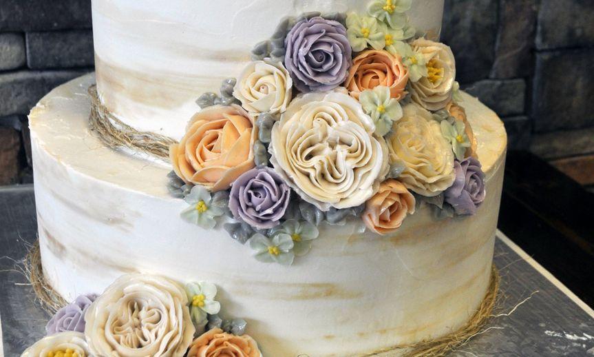 butter cream flowers