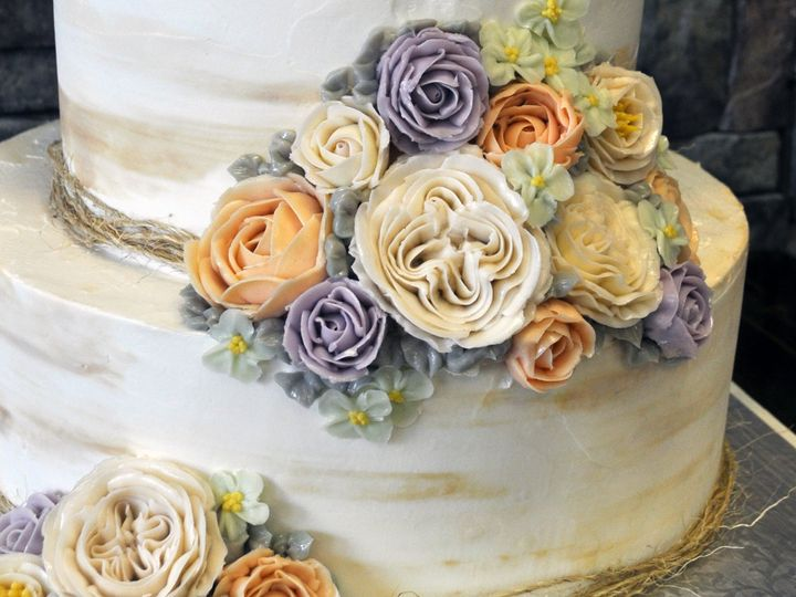 Tmx 1509376405391 Butter Cream Flowers Park Ridge wedding cake
