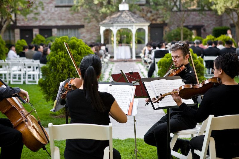 Adorn your guests during the Ceremony with the sweet sounds of a Quartet in our Pond Courtyard