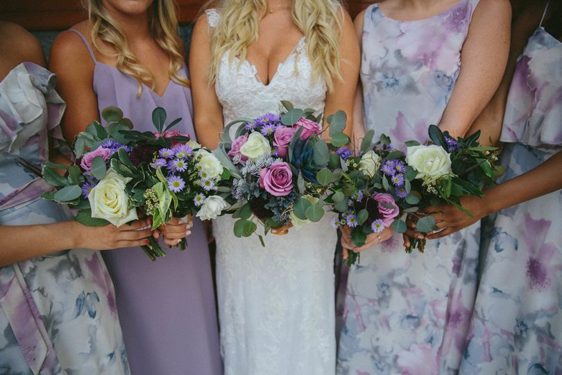 Dresses from Camille's of Wilmington. Flowers by The Petal & The Pearl Events. Lavender and sage...