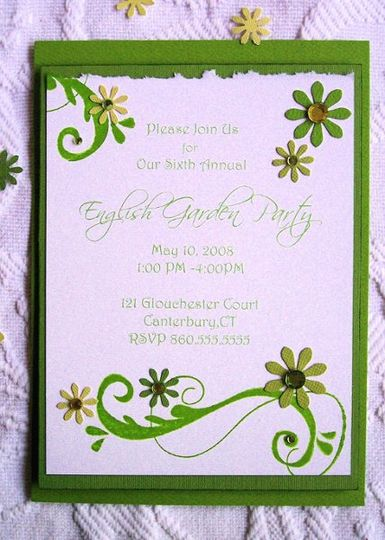 English Garden Party Suite-Invitation