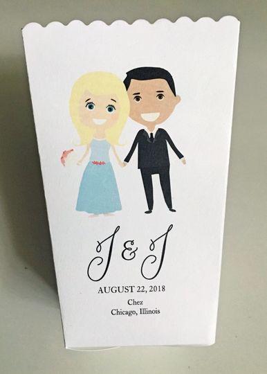 Wedding Popcorn Box Favor Emoji