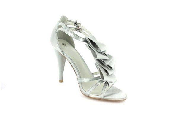 Ruffled Satin Sandals