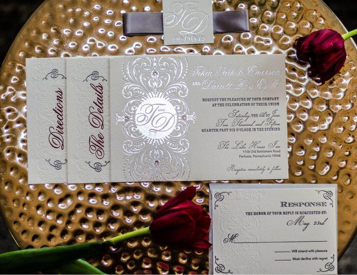 Elegant invitation sample