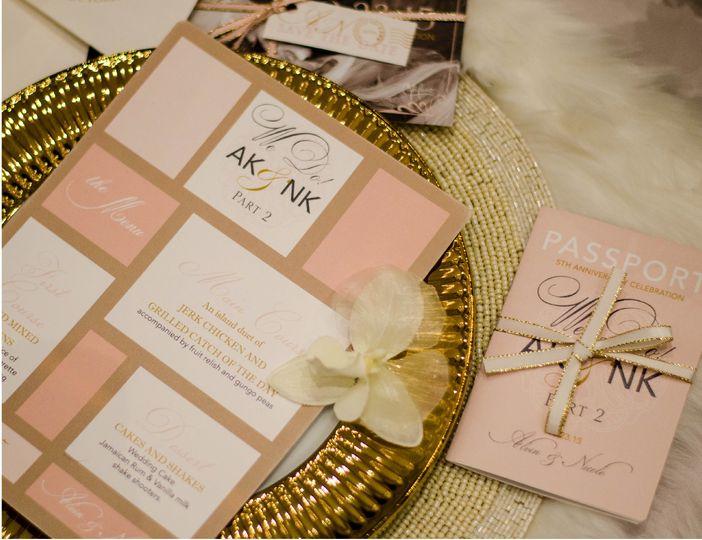 Peachy invitation