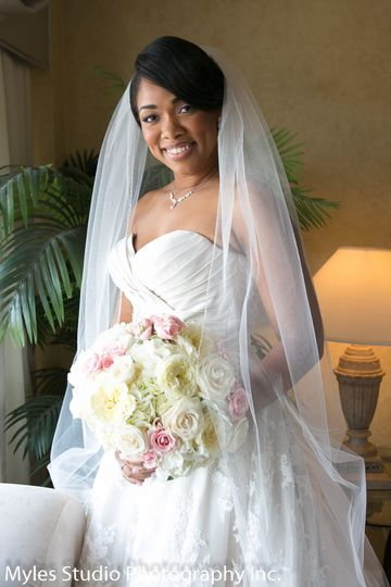 Formal Portrait of the bride before her wedding, in the bridal suite of the Poughkeepsie Grand Hotel...