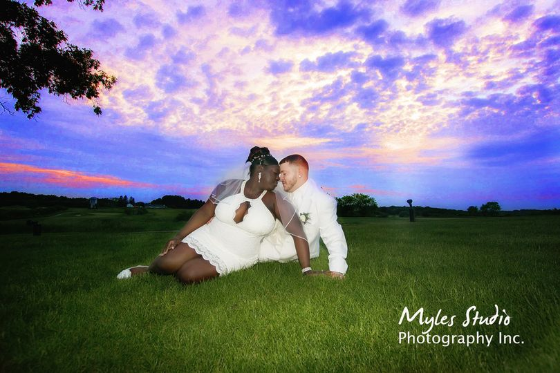 A beautiful sunset portrait taken at The Links.