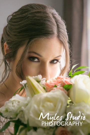 Portrait of a bride, taken during her pre-wedding photos before her wedding.