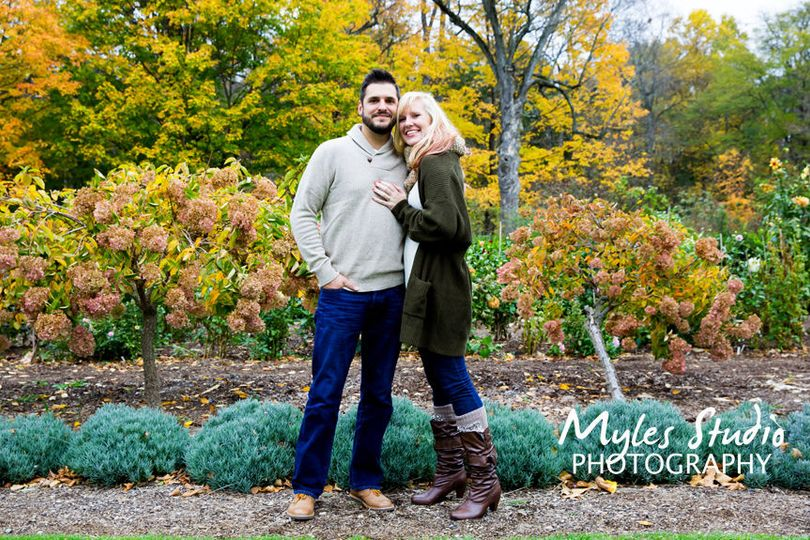 Fall engagement photo taken at Locust Grove in Poughkeepsie NY.