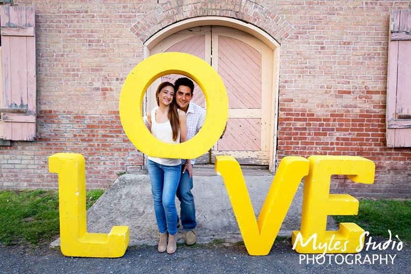 Engagement photo with love.,