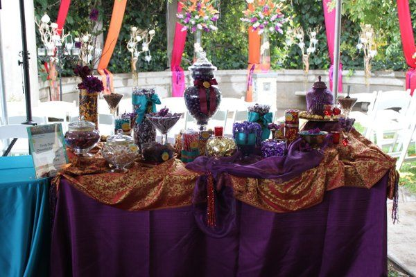 Moroccan theme candy buffet