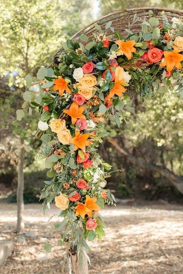 Summer wedding arch