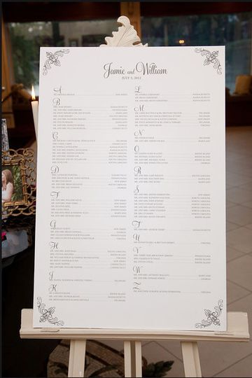 Guest Seating Board