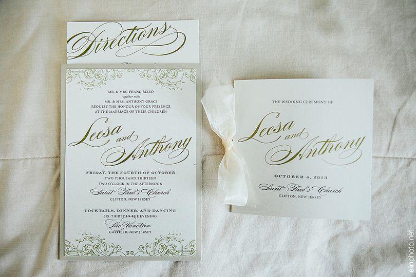 Invitation with Programs